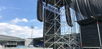 Line Array Layher Event-System Video Support Gerüstbau